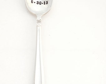 Spooning Since™ Personalized, CUSTOM Spoon with year or date. Anniversary Wedding Gift. The Original Hand Stamped Vintage Coffee Spoons™