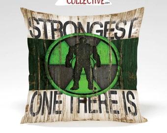 Incredible Hulk Decorative Pillow - Full Insert Pillow or Cover Only-Home Decor, Superhero, Comic, Avengers,Vintage Art- Green Black