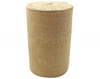 """50 Yards - 12"""" Natural Burlap Roll - Industrial Grade - Unfinished Edges - Eco-Friendly Natural Jute Burlap Fabric - Tight Weave - 12 Inch"""