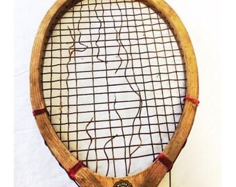 Vintage Wooden Swift Tennis Raquet
