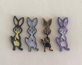 Trippy Bunny hat pins set of 4
