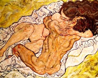 Egon Schiele The Embrace, 1917