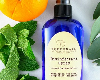 Essential Oil Disinfectant Spray / Green Cleaning / Housewarming Gift / Nontoxic Home / Natural / Essential Oils / Antibacterial / Tea Tree