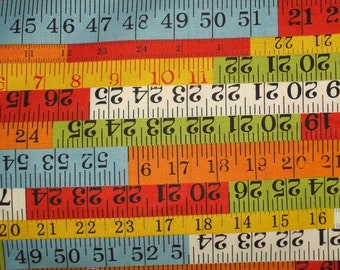 Moda Recess Rulers Fabric Fat Quarter FQ in Red