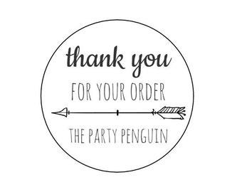 20 Thank You Shop Stickers, Thanks for Your Order, Packaging Stickers, Mailing Labels, Package Labels, Happy Mail, Shop Stickers, Arrows