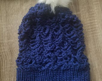 Open Knit Slouch Hat