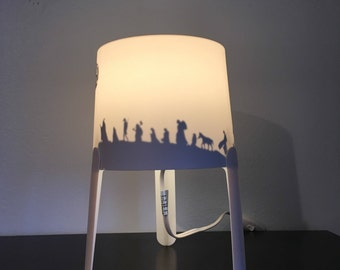 Custom hand painted silloutte lamps