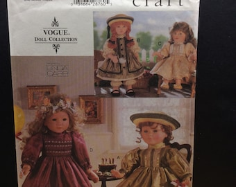 """Vogue Craft 18"""" Doll Sewing Pattern 9965 659 Party Dress Clothes Linda Carr"""