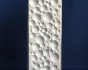 Op Art Space Age Winterling 'Moon Crater' Porcelain Vase