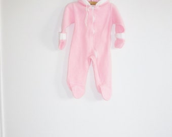 Vintage Pink Fleecy Sleeper