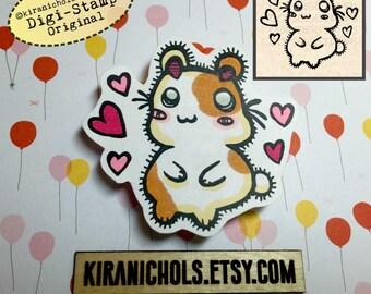 Hamster Digital Stamp - Digistamp - Hamtaro Digital Stamp - Coloring Pages - Kawaii - Printable Sticker - Clip Art - Printables