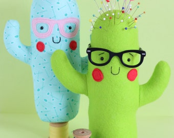 cactus sewing pattern, cactus pdf pattern, cactus sewing pdf, pin cushion, plush pdf pattern, stuffed toy pdf, softie pdf pattern, cactus