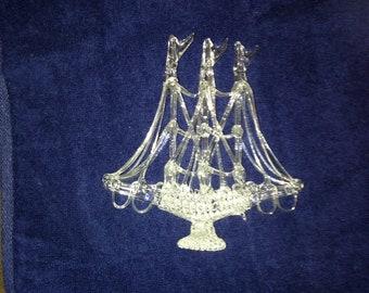 Hand Blown Glass Sailing Ship