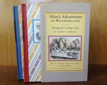 Alice's Adventures in Wonderland Special Edition 2 Volume Set Copyright 1946