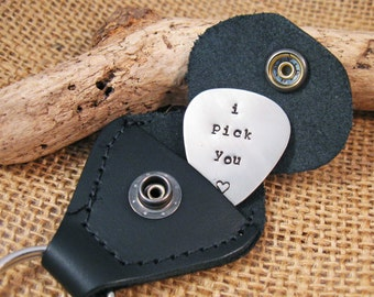 Personalized Guitar Pick - I Pick You - Valentines gift Boyfriend - Custom personalized guitar pick - Husband Valentines day gift