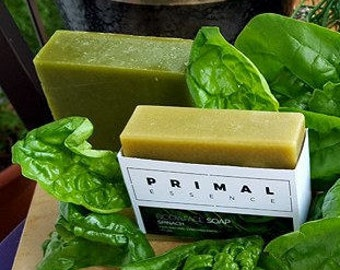 Spinach Tea Tree Soap | Castor Oil Soap | Shea Butter Soap | Green Soap | Herbal Soap | Natural Soap | Vegan Soap | Acne Soap