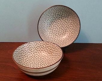 Two Large Japanese Noodle Bowls