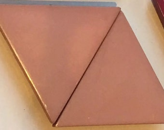 Vintage Light Brown Tan  Belt Buckle or Fastener Diamond Shape