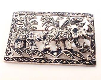 Elephant Brooch, Brooch Pin, Vintage Brooches,