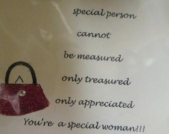 Handmade Special Woman  Love Card Blank Greeting Card