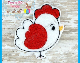 Hen Chicken Machine Embroidery Design