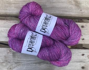 Orchid - Hand Dyed Yarn - 50/50 Silk/Merino Wool - Fingering Weight