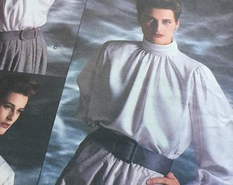 Sewing Pattern - Blouse Sewing Pattern-  Vogue Sewing Pattern -  Oscar de la Renta Blouse, Uncut Size 12-14-16, Sewing Patterns