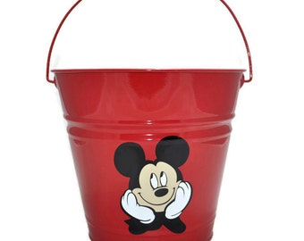 Mickey Mouse Bucket - Easter Basket - Personalized Easter Bucket - Custom Personalized Metal Easter Bucket - Easter Pail - Disney Easter
