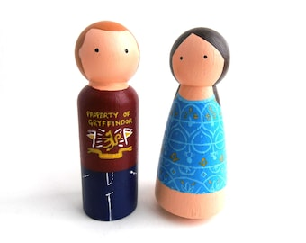 Personalised peg doll family
