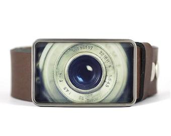 Lens Belt Buckle, Photographer's belt buckle, camera belt buckle, gift for him, men's belt buckle, gift for photographer, vintage camera