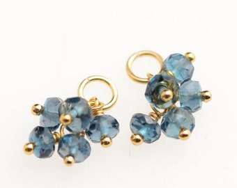 London Blue Topaz Earrings - 14k Gold Filled
