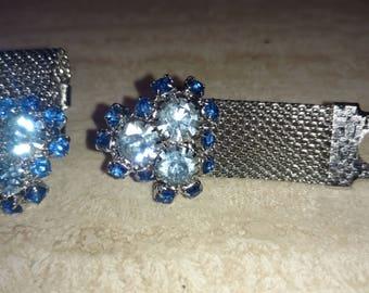 Sparkly Women's cuff links.