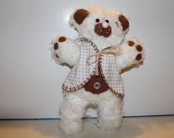 Chilly bear dressed in his little coat