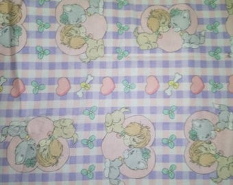 FLANNEL Puppies and Kitties Fabric
