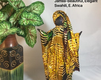 Jamila, Sherika Queen Statue, Welcome to Wakanda Collection, size 3, 11 inches