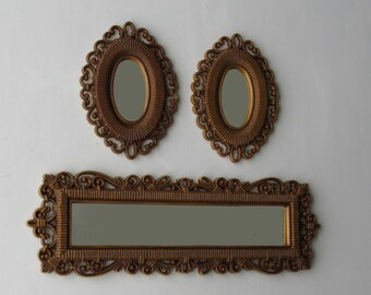 Vintage Mirrors - decorative mirrors -3 Homco mirrors - lots of feng shui
