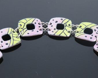 Polka-Handmade Enamel Bracelet