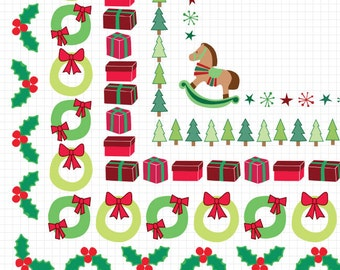 Christmas Frame Clipart Instant Digital Download Images Holiday Clip Art Borders