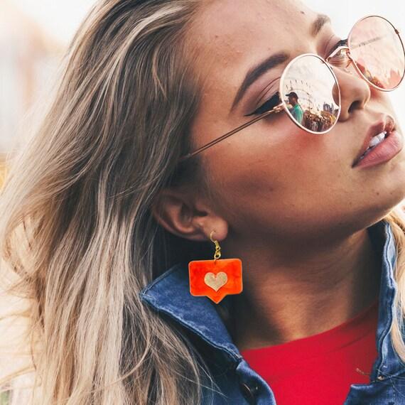 Social addicted earring - Like me earrings - Trending jewelry - Rockabilly Instagram Jewelry - Novelty earring - Cool earrings