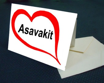 Greenlandic I LOVE YOU card with envelope