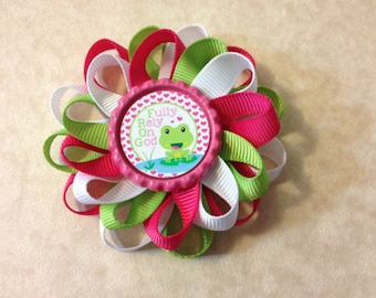 Fully Rely On God FROG Christian Bible verses loopy bow