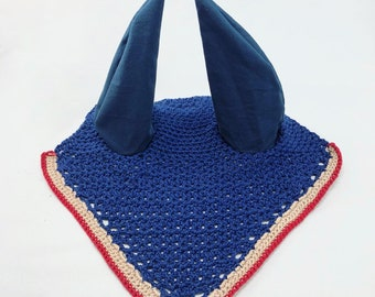 Horse Ear Bonnet · Equestrian · Ear Bonnet · Fly Veil · Horse Fly Bonnet · Dressage · Eventing · Blue Ear Bonnet · Blue Fly Veil
