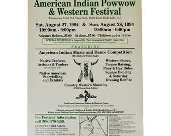 1994 Native American Indian 4th Annual Powwow Program