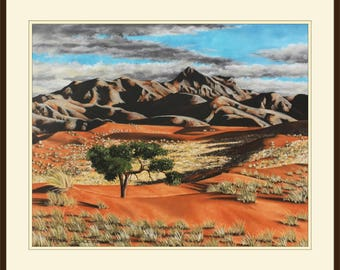 African Landscape, Original Artwork, Color Pastel, Unframed, 700mm x 850mm, Original Artwork, Wall Art,Fine Art,