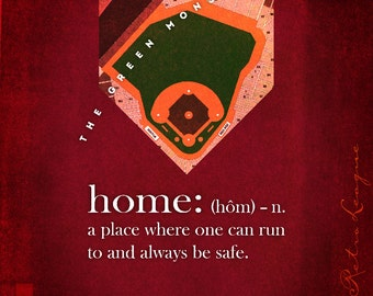 Boston Red Sox - Fenway Park -  Stadium Series - Home Plate Art - Perfect Gift for Birthday, Anniversary or Father's Day - Unframed Print