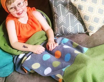Mermaid Tail Blanket Toddler 2T-4T Fish Tail Blanket Young Girl Young Boy Birthday Gift Fleece Gift for Girl Gift for Boy Customize