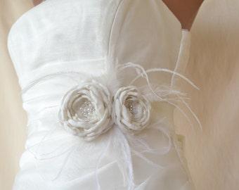 Bridal belt, Ivory Bridal sash, Floral Bridal Belt, sash belt, Ivory bridal belt, Flower wedding sash, Flower wedding dress belt
