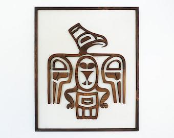 Native American Cedar Thunderbird / Tribal Wall Art