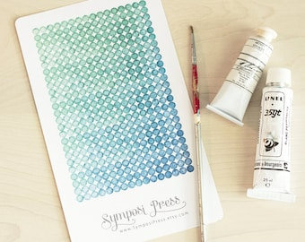 Planner Stickers ~ Small Watercolor Dots, Blue-Green Gradient (Inkwell Press, Erin Condren, Plum Paper, Fliofax, Kikki K, Happy Planner)
