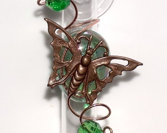 Butterfly Gift For Mom Glass Bud Hanging Window Vase Suction Cup Vase  Rooter Vase Gardener Gift
